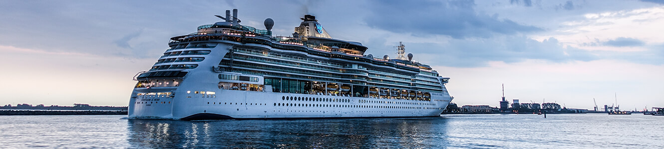 Luxury Cruise Ship on the water