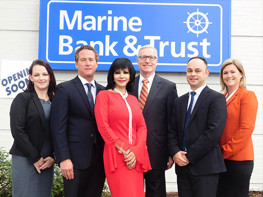 Staff photo of Marine Bank & Trust employees - Melbourne Branch