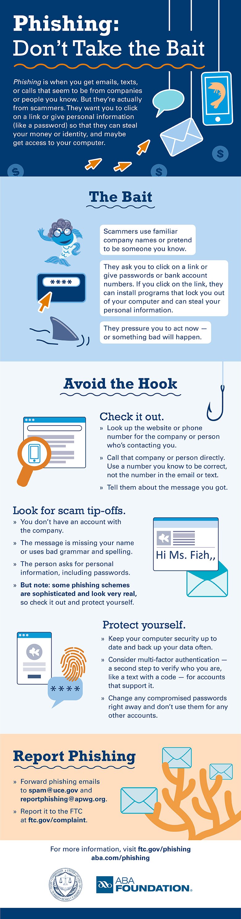 Prevent phishing: Follow these tips and prevent scammers from getting your personal info from texts, calls, or emails to steal your money or identity.